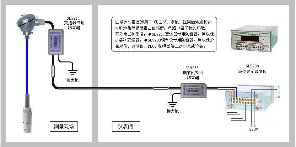 水箱水位传感器接线图